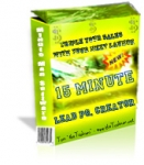 15 Minute Lead Page Creator