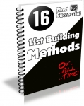 16 Most Successful List Building Methods (PLR)